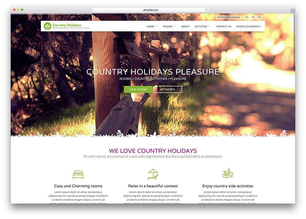 countryholidays-booking-website-template