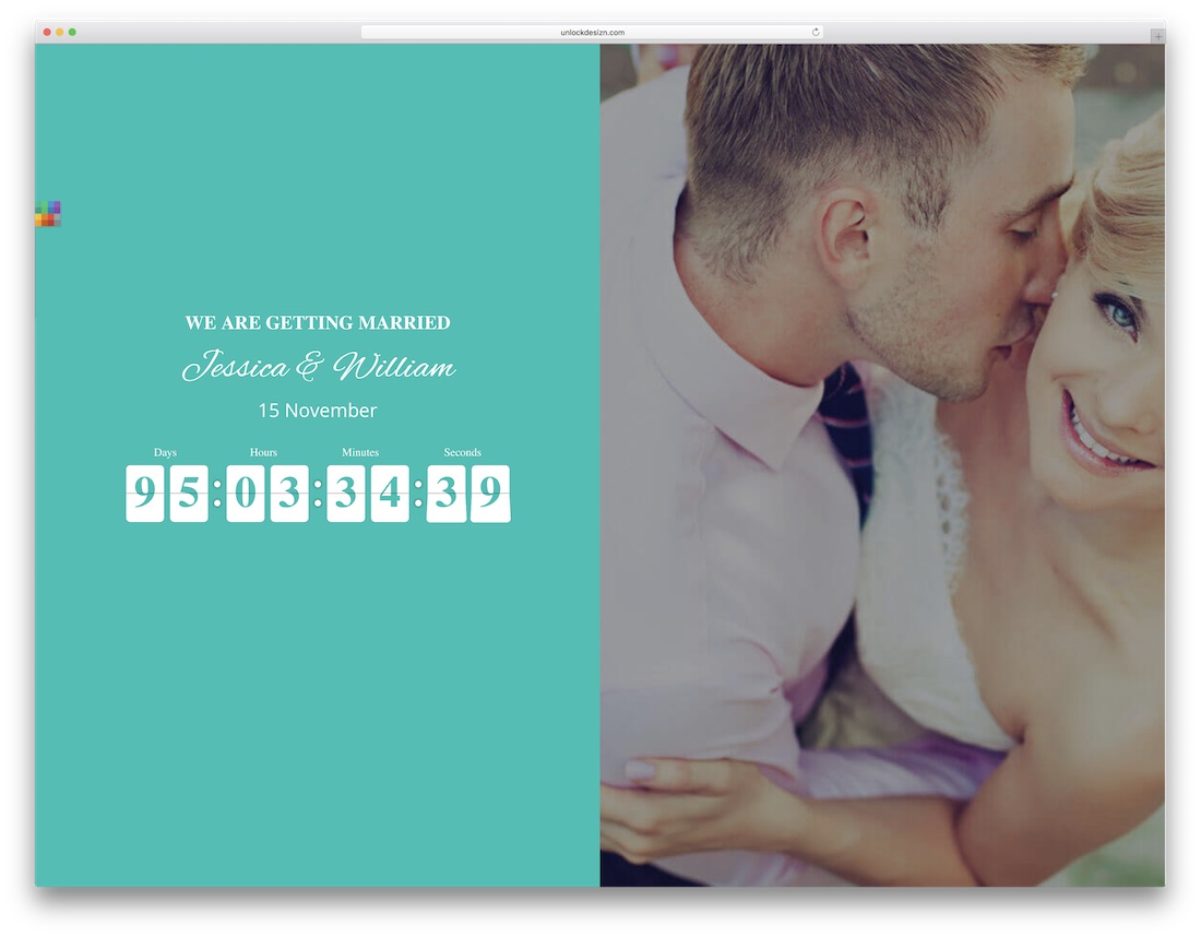 couple heart html wedding website template