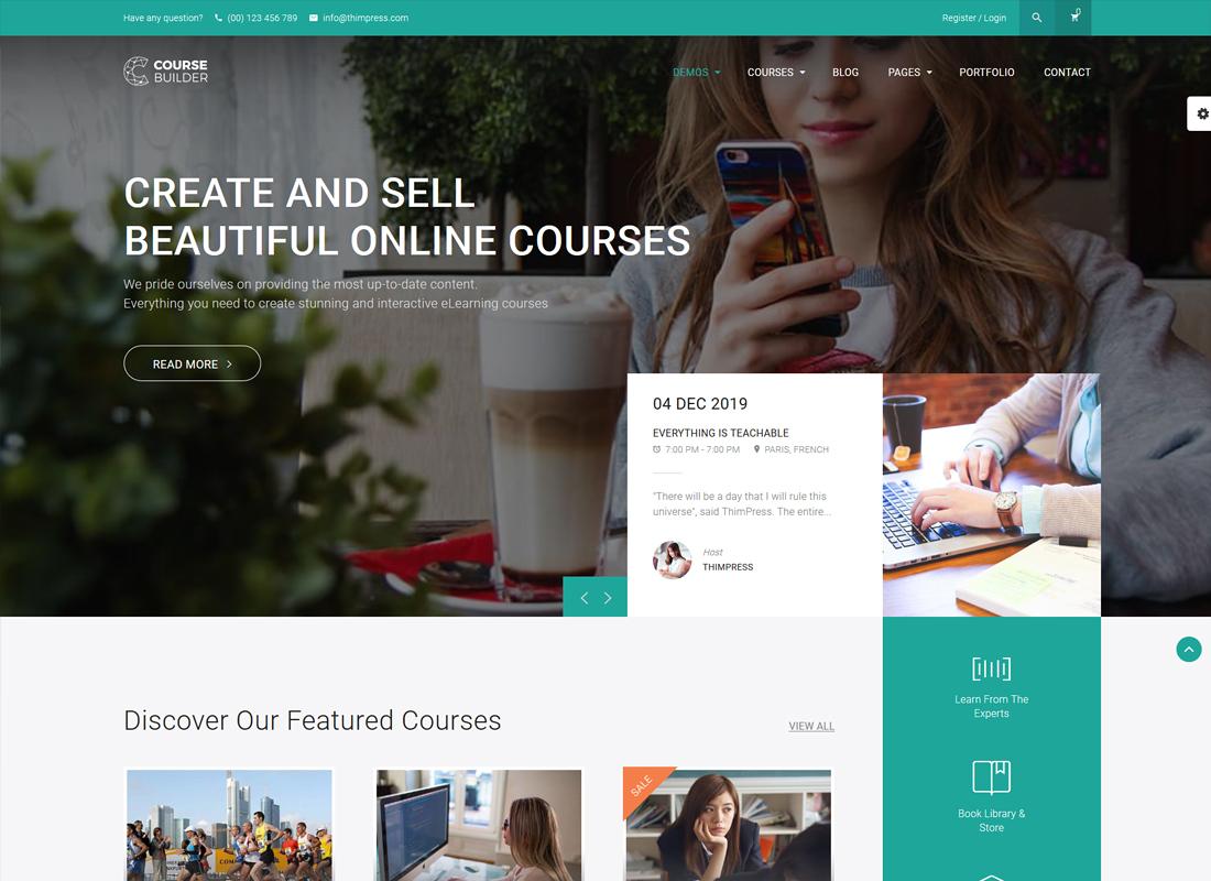 Course Builder LMS | Online Courses, Schools & Education LMS WordPress Theme