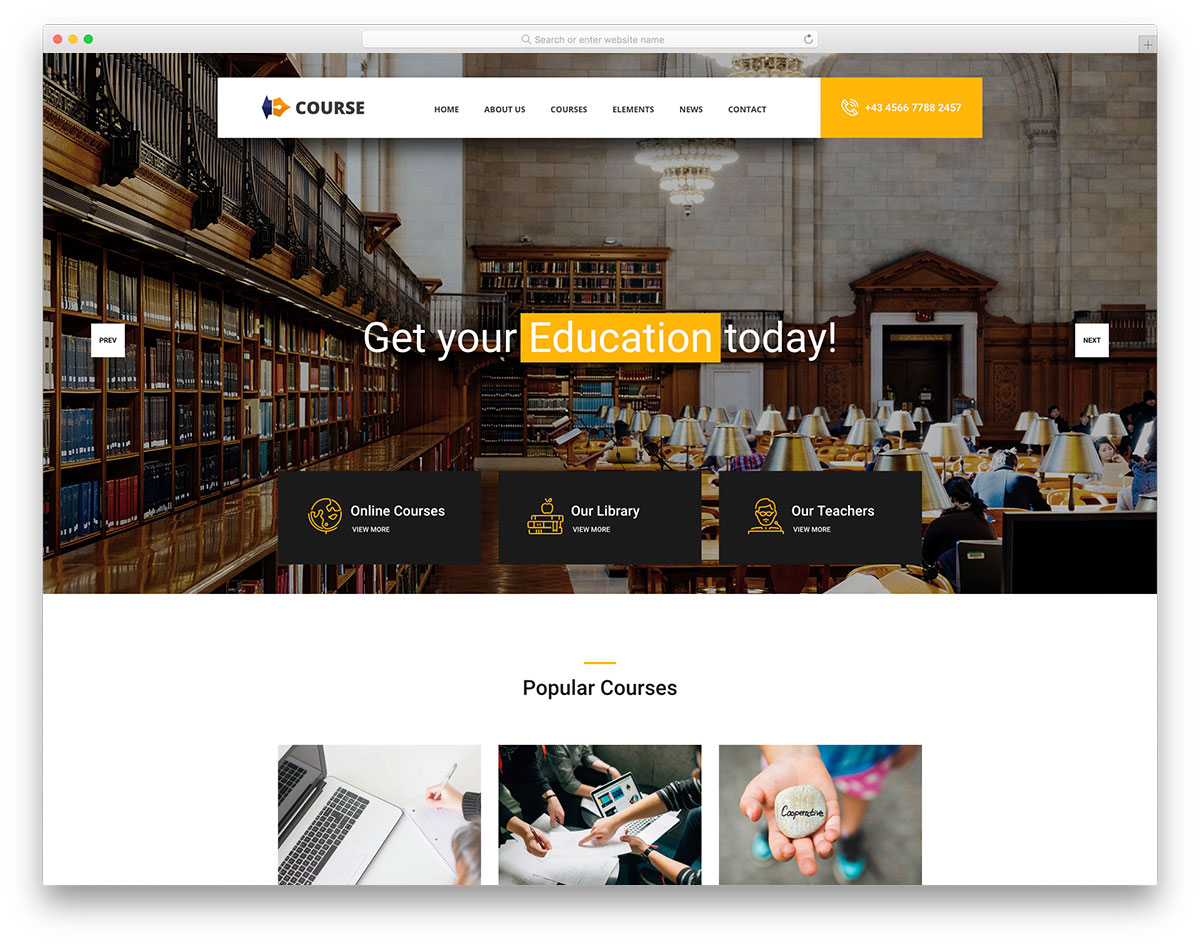 21 Best Free and Premium Education Website Templates