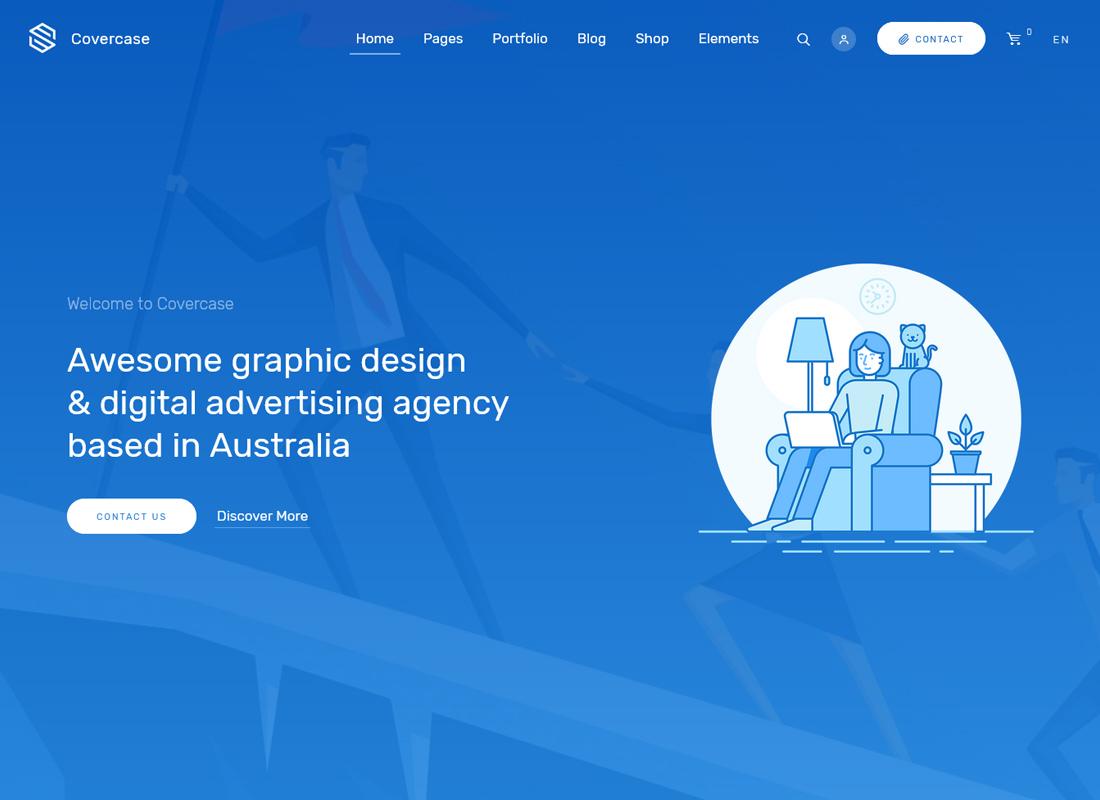 Covercase | Responsive Multipurpose WordPress Theme