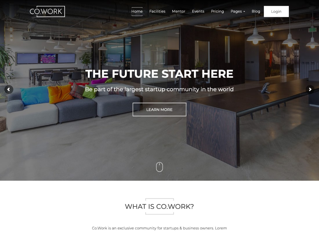 CoWork | Open Office & Creative Space WordPress Theme