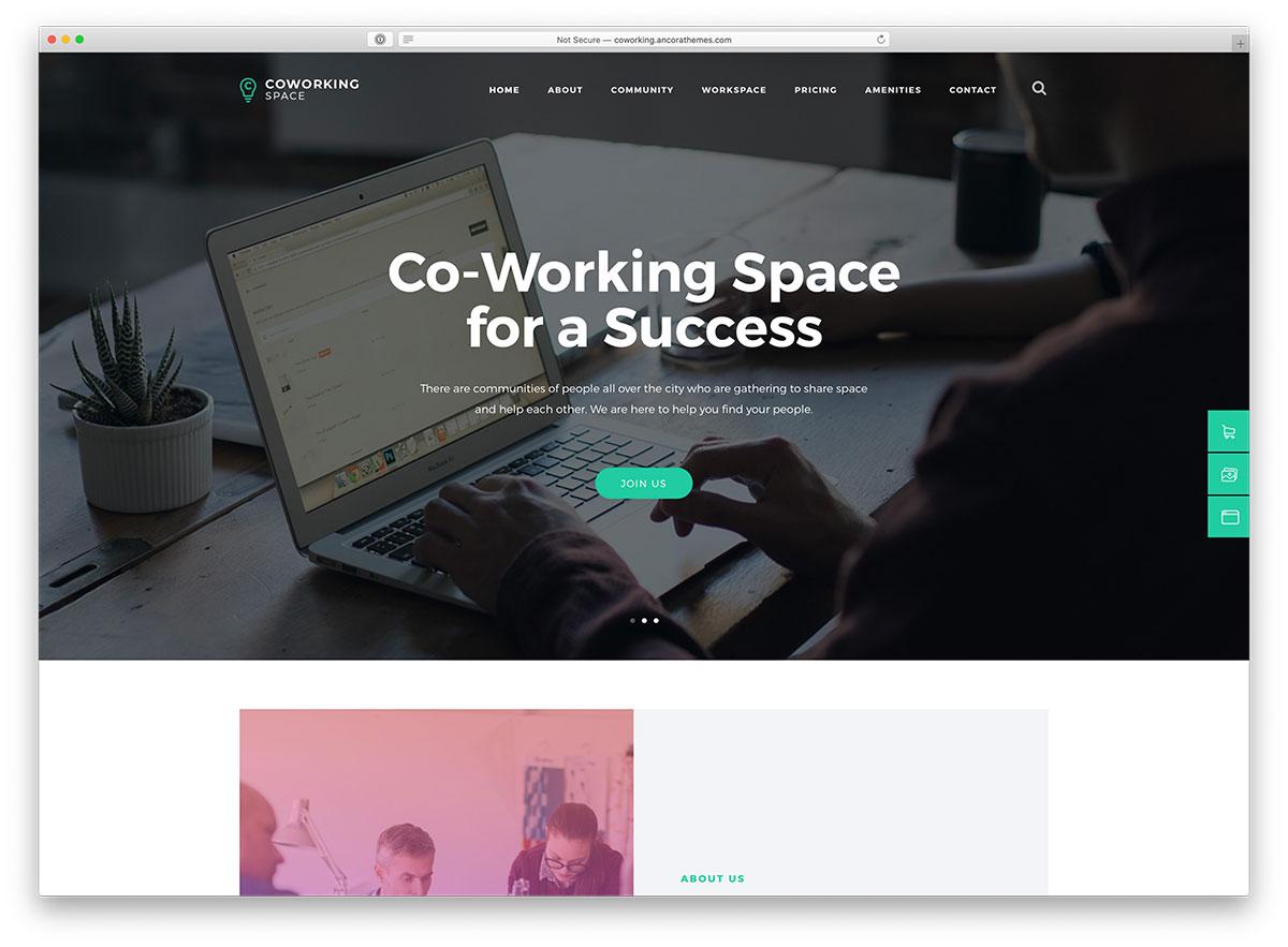 coworking WordPress theme