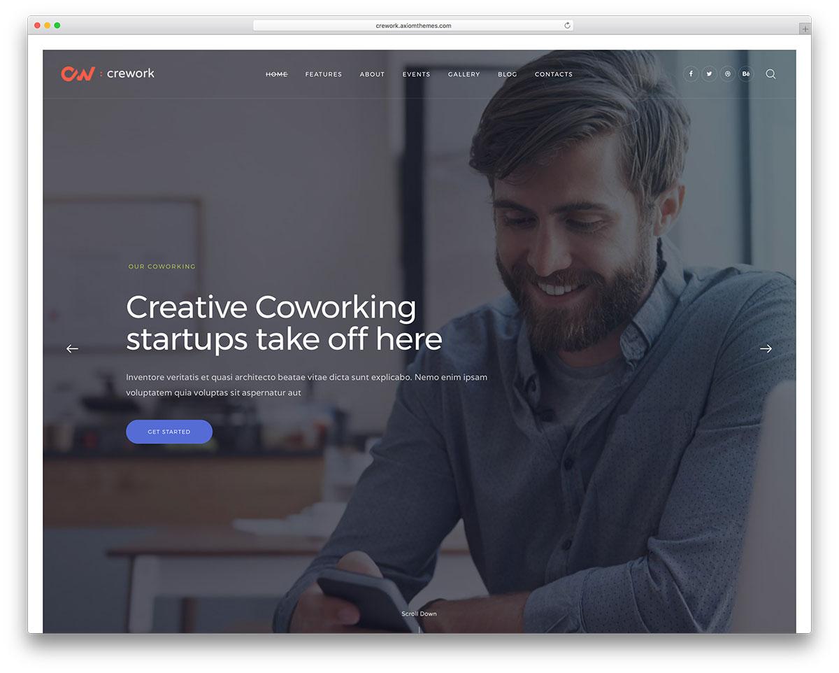 Top 10 Sleek Coworking WordPress Themes 2019