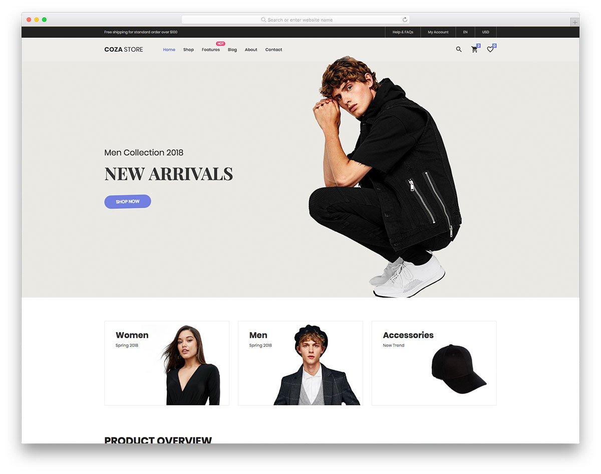 Top 30 Free eCommerce Website Templates Built With Bootstrap 2018