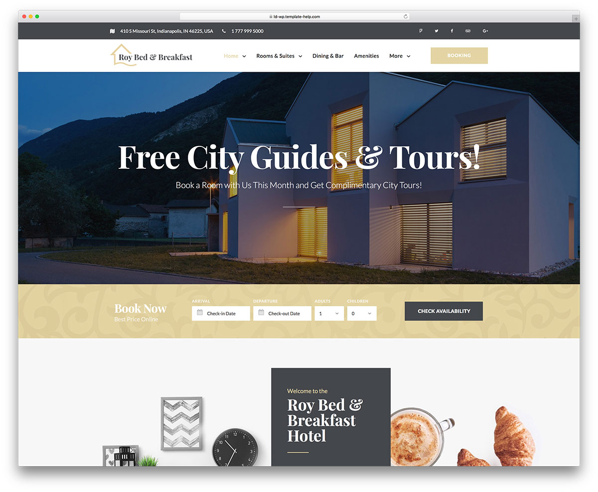 Feel the Coziness Online: 15 Hotel Website Templates to Suit Every ...