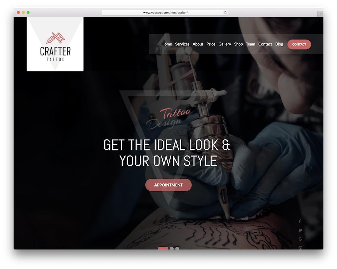 crafter cheap website template
