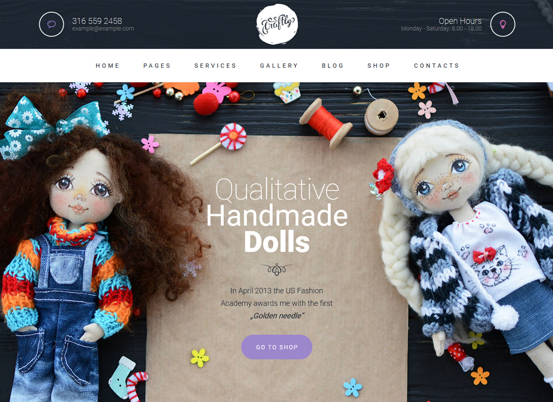 Craftly | Hobby and Crafts WordPress Theme