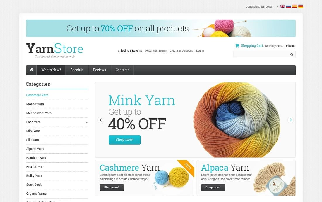 crafts oscommerce template