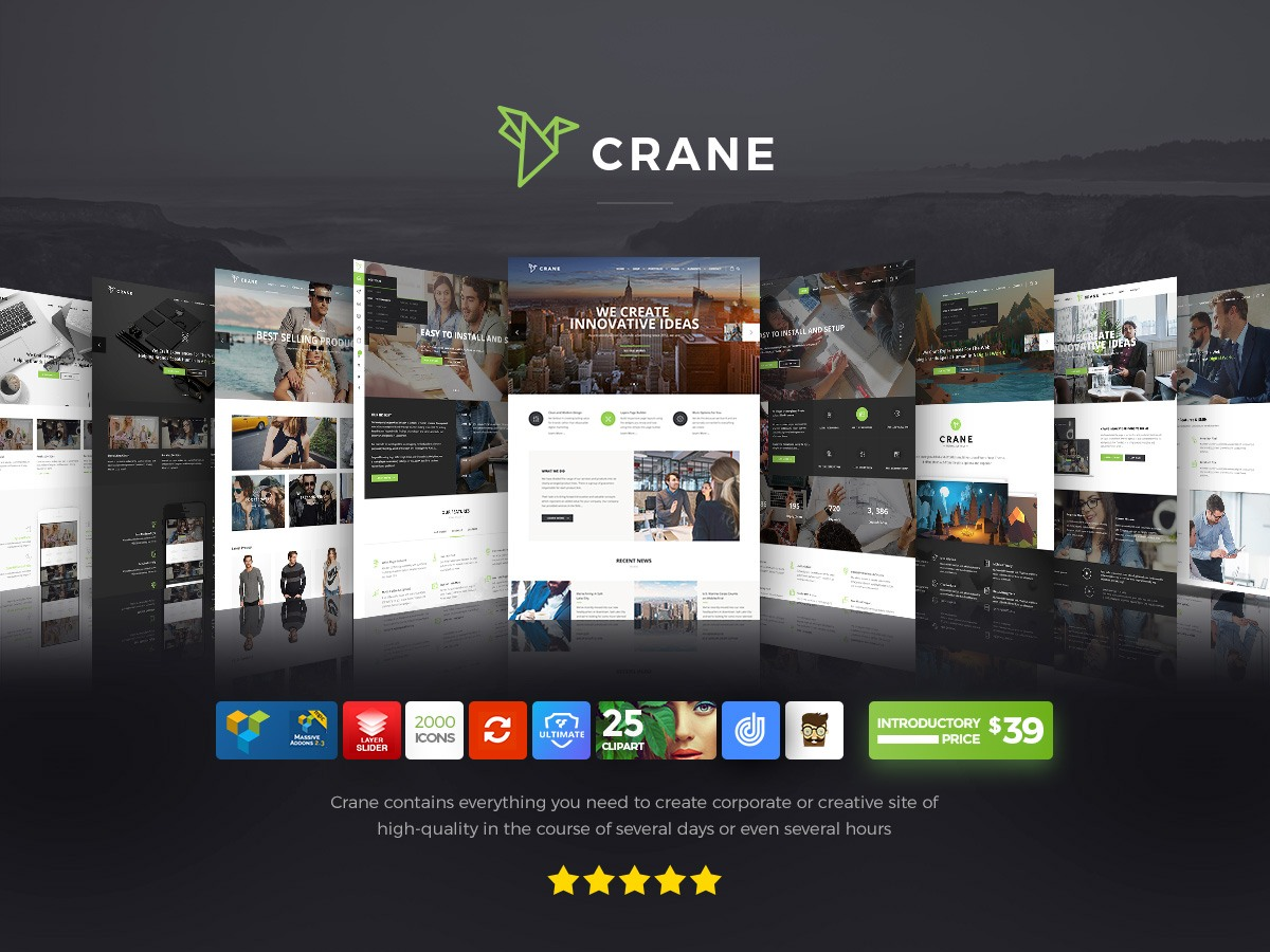 I Hope This Crane Is Just Hiding Other >> Crane Theme Review The Latest Greatest Multi Purpose Wordpress