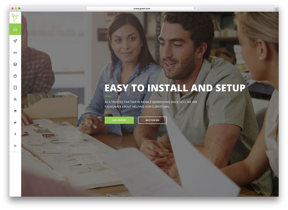 crane is a practical wordpress theme that is very useful for different purposes one of them is to serve as a landing page do you need a single web page