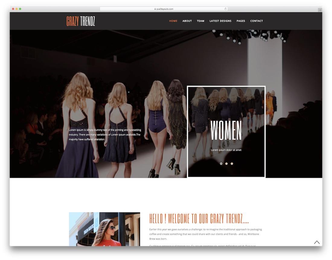 28 Best Free Fashion Website Templates 2018 - Colorlib