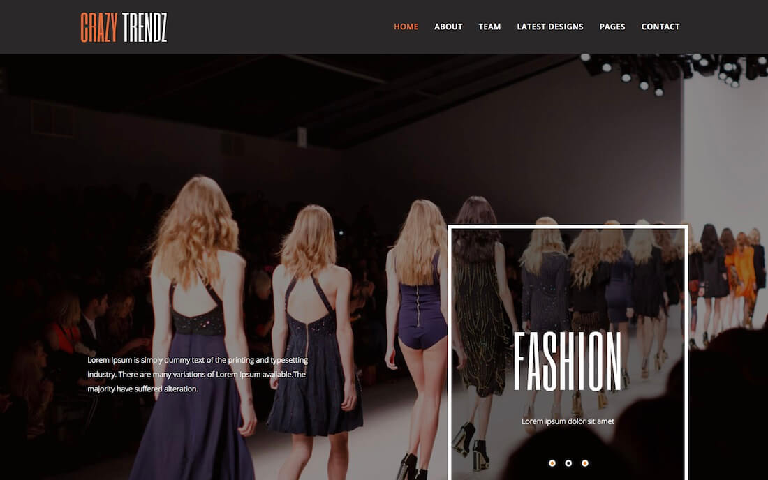 crazy trendz free fashion website template