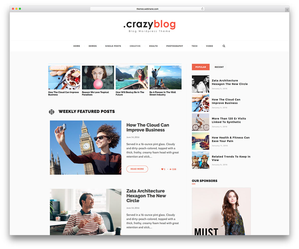 crazyblog-minimal-blog-theme