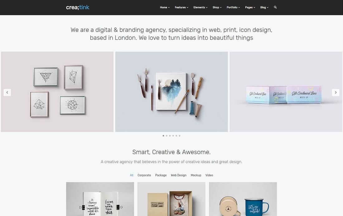 creatink artist website template
