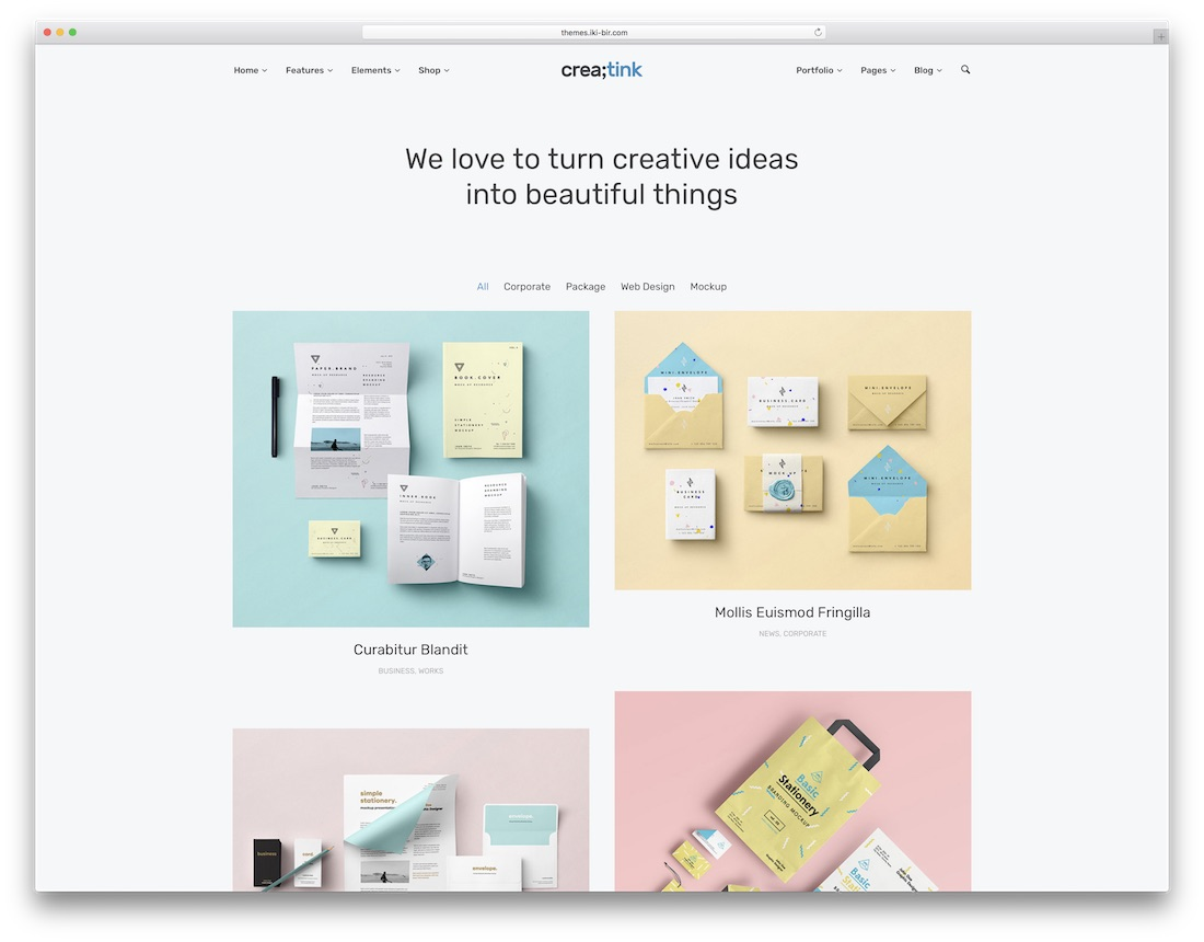 creatink artist website template