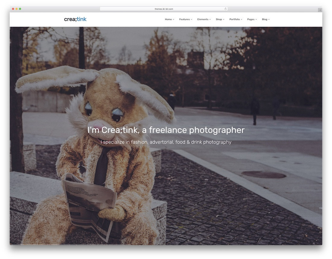 creatink freelancer website template