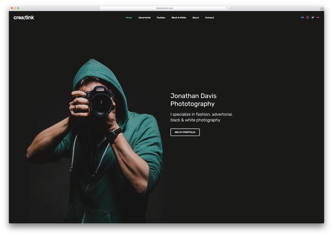 creatink photo website template