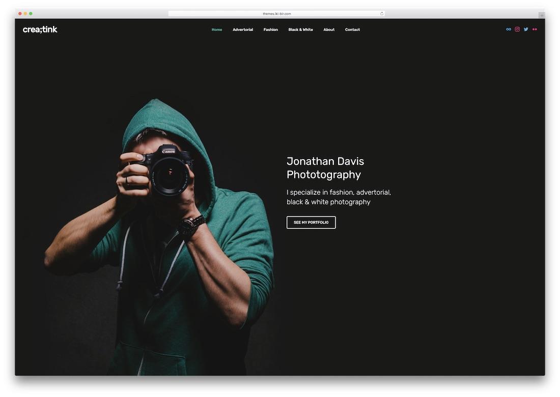 26cdadbaa9b 34 Photography Website Templates 2019 - Colorlib