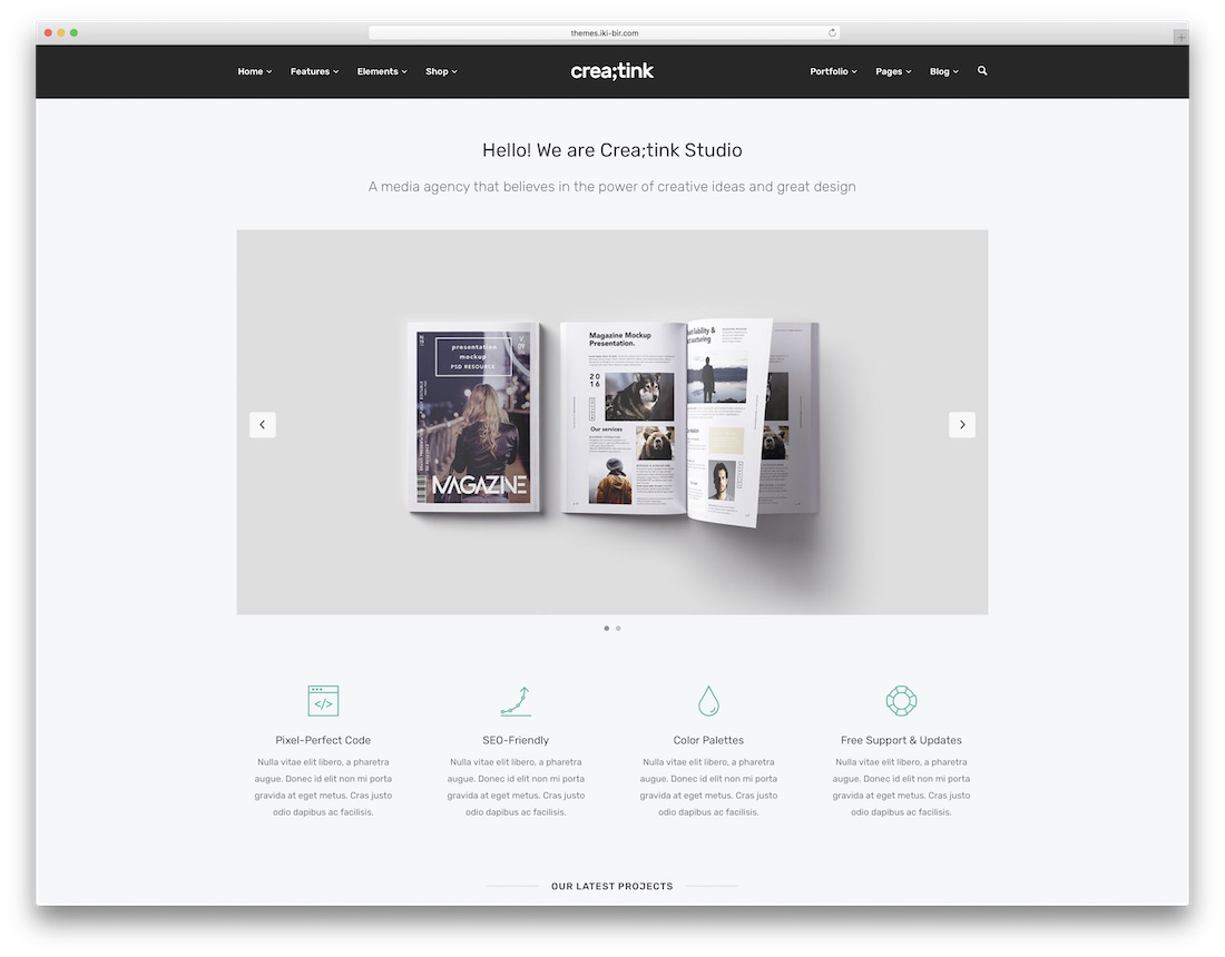 creatink seo friendly website template