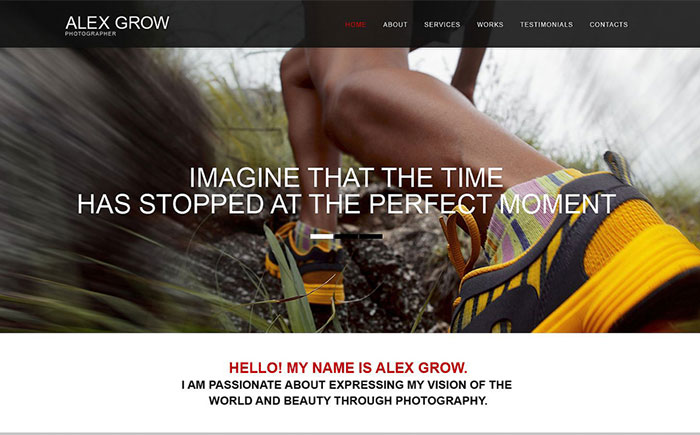 Top 15 creative adobe muse templates for launching impressive pher portfolio muse template maxwellsz