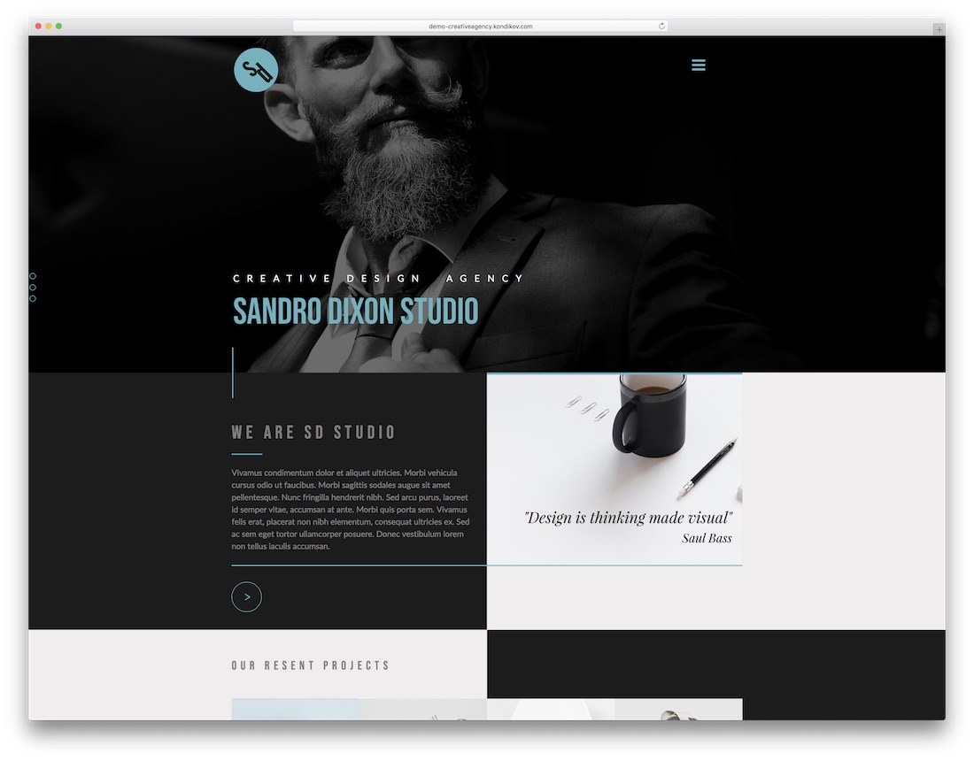 creative agency adobe muse template