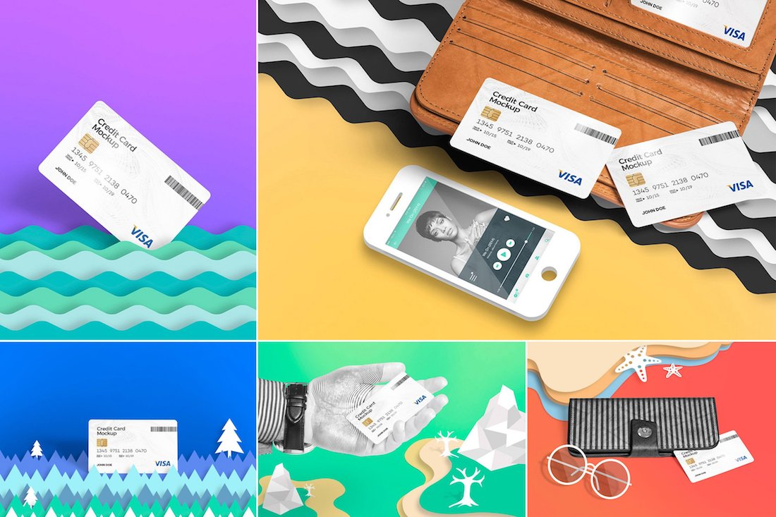 creative credit card mockups