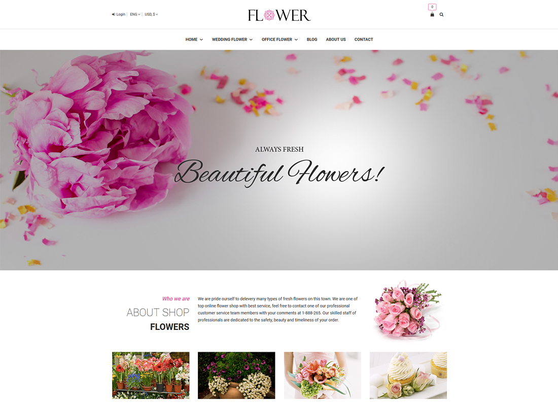Flower | Creative Flower Woocommerce WordPress Theme