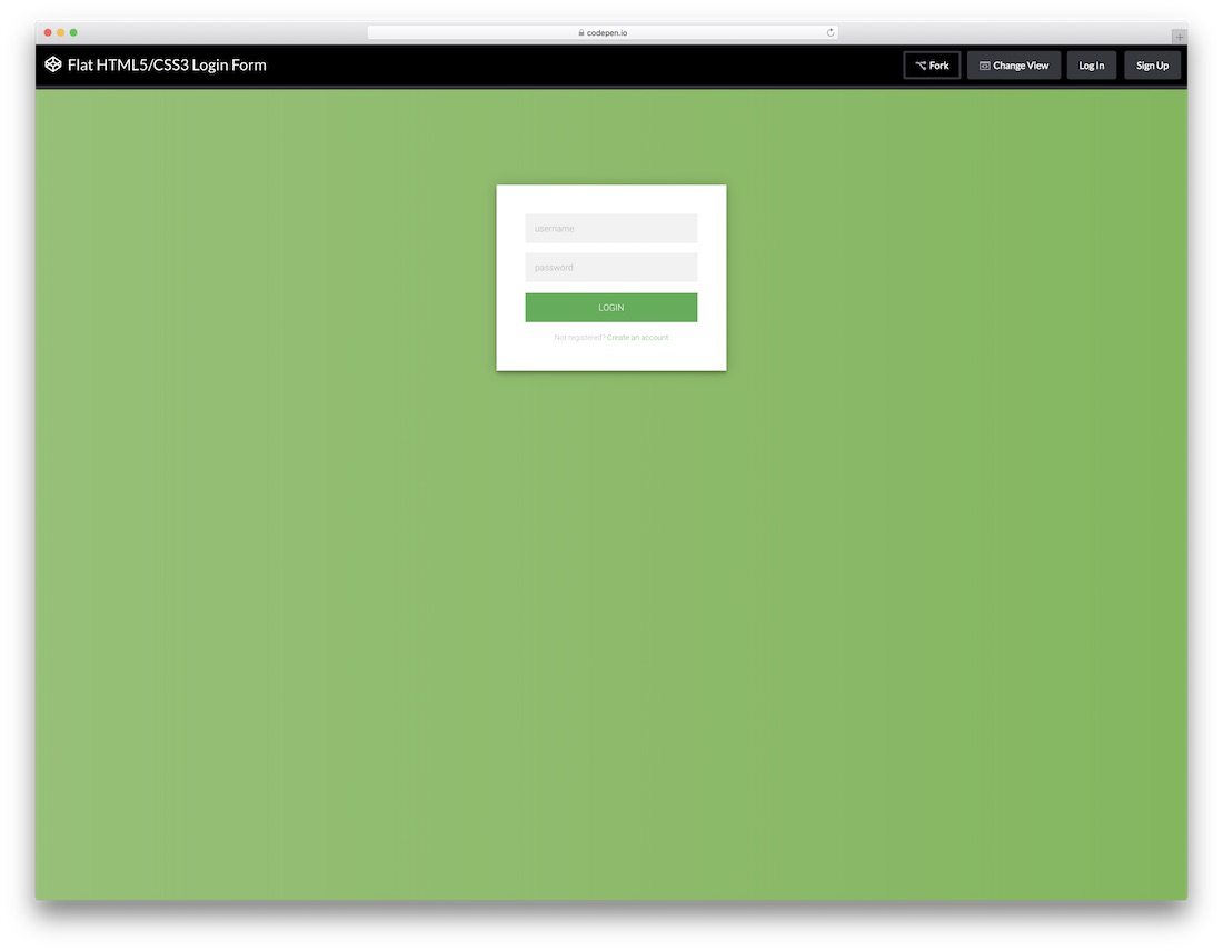 creative html5 and css3 login form