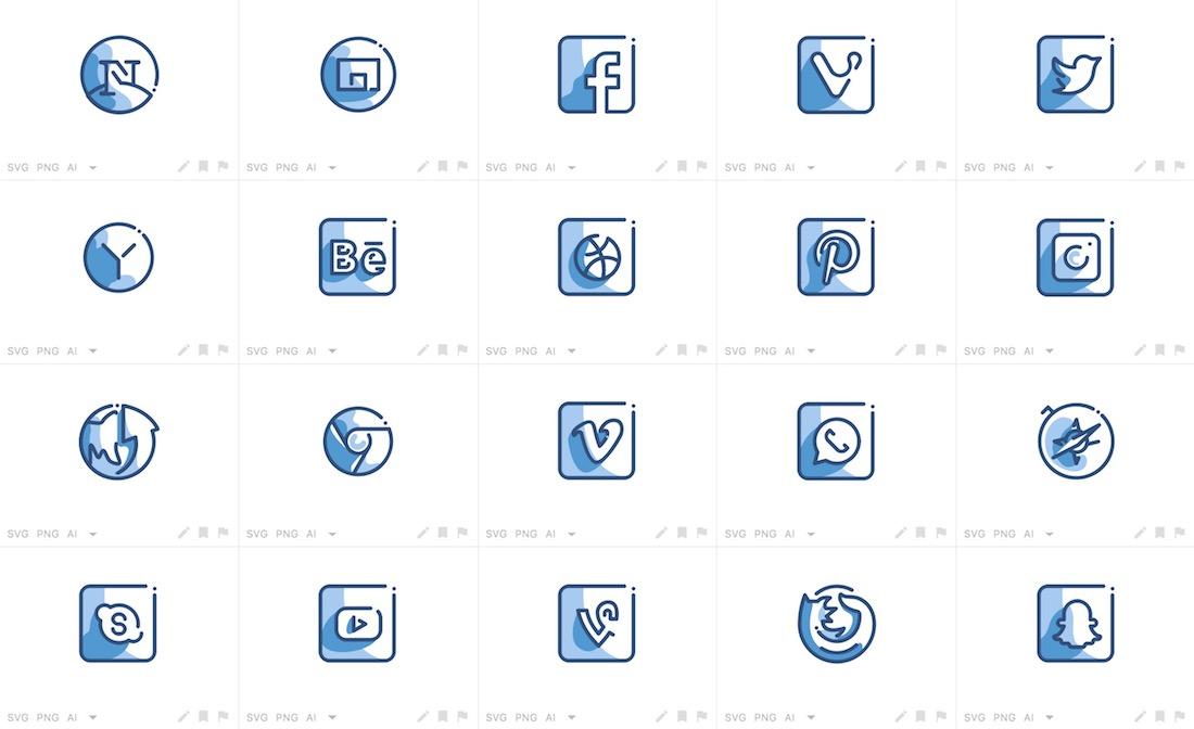 creative social media icons