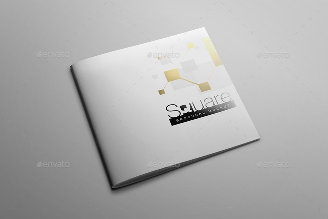 creative square brochure mockup
