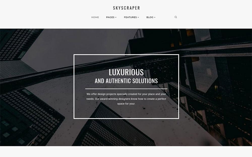 Skyscraper - Architecture And Construction WordPress Theme