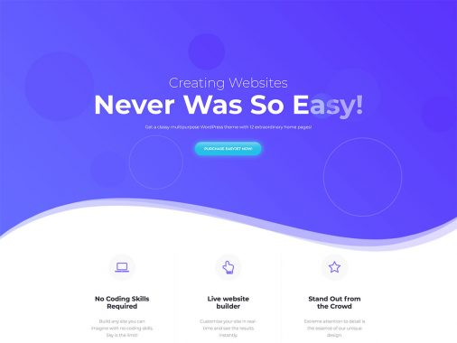 Creative Wordpress Themes 2018