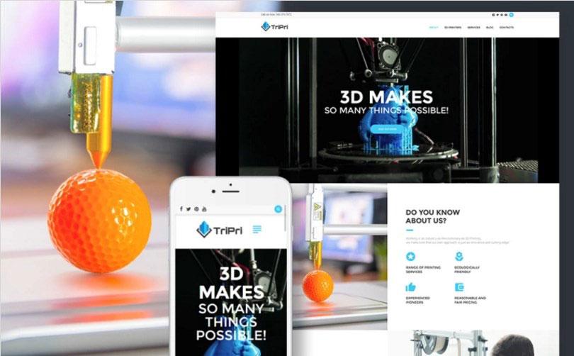 3D Printing Services WordPress Theme