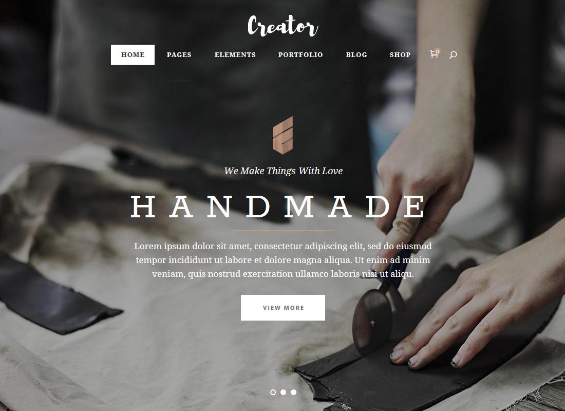 Creator | A Refined Theme for Handmade Artisans, Businesses & Shops