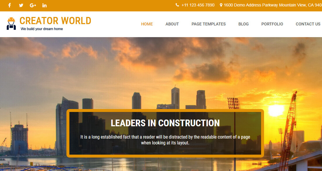 Best Free Construction Website Templates Colorlib - What website template is this