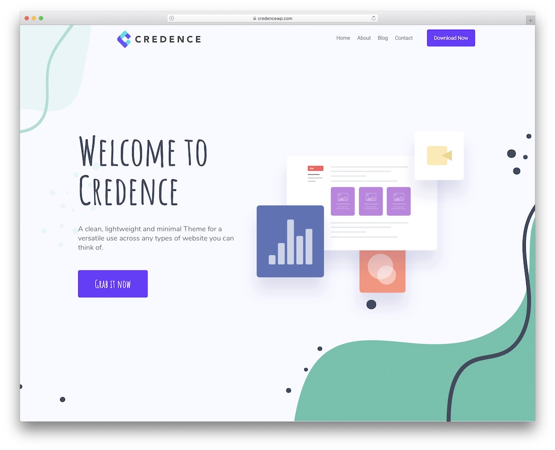 credence free clean wordpress theme