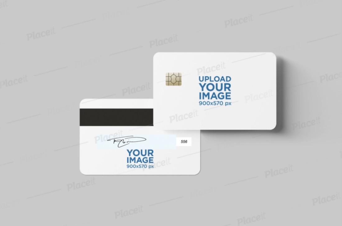 credit card mockup featuring both views