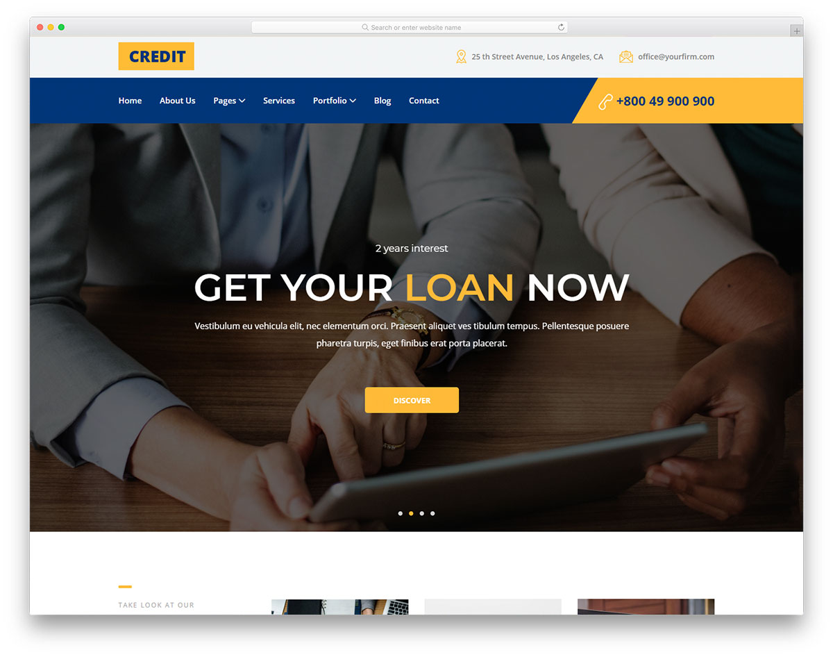 most popular free finance website templates 2018 colorlib