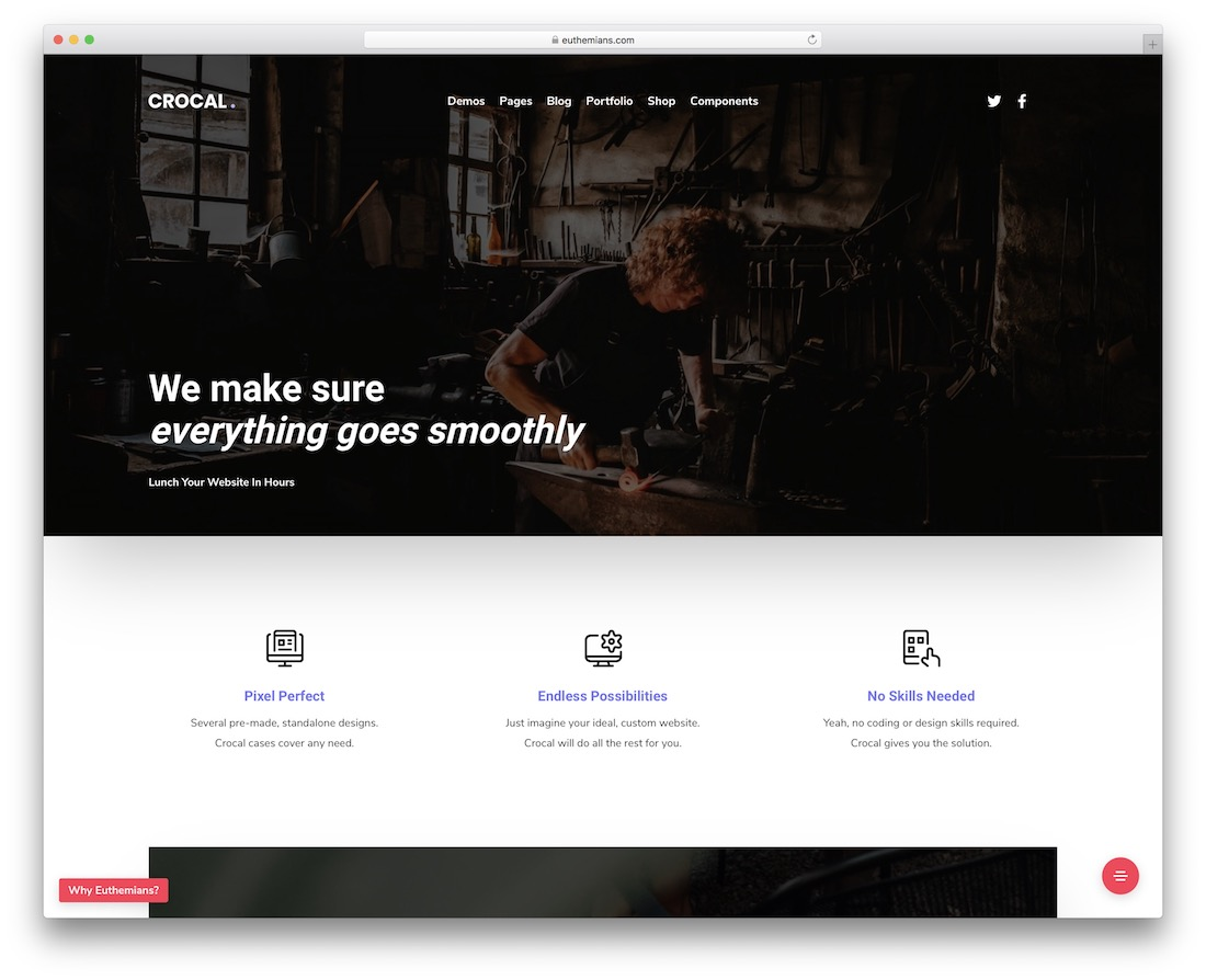 crocal accessible wordpress theme