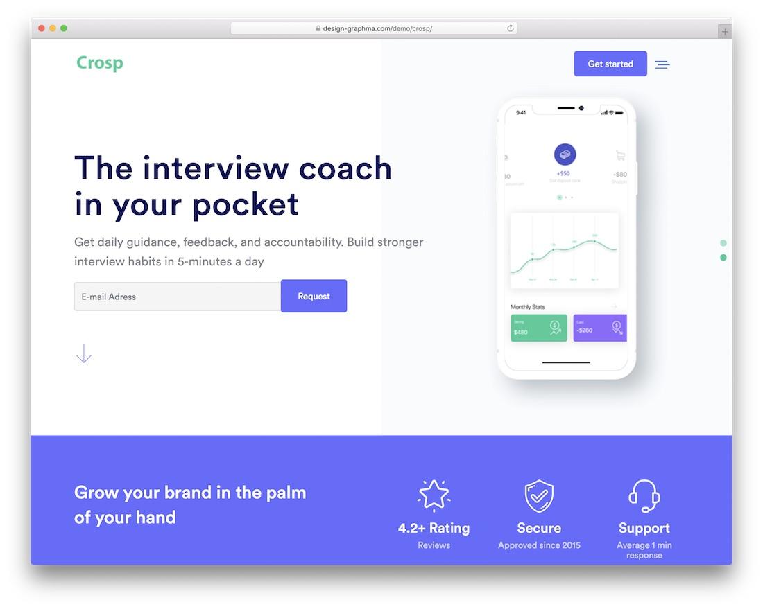crosp cheap website template