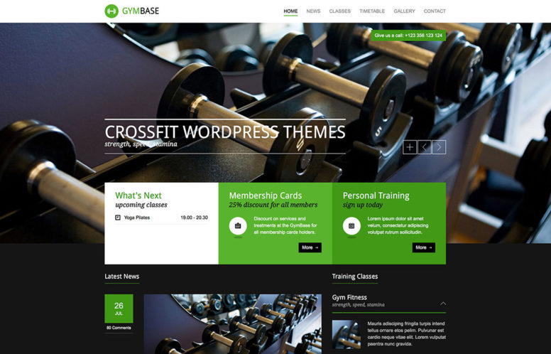 11 Amazing Crossfit Wordpress Themes 2015