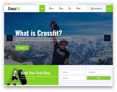Crossfit2 Free Template