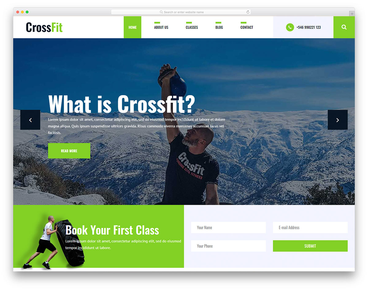 Crossfit2 Free Template