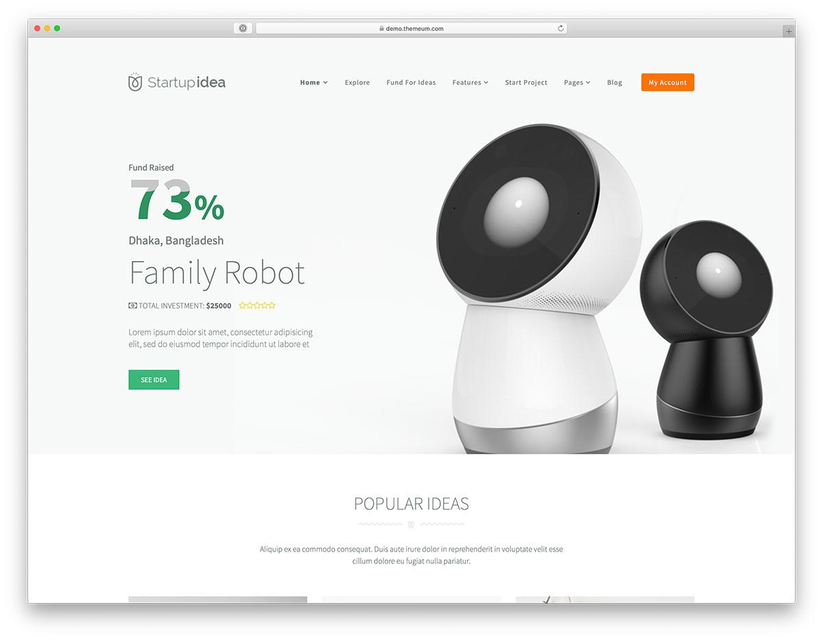 crowdfunding wordpress theme