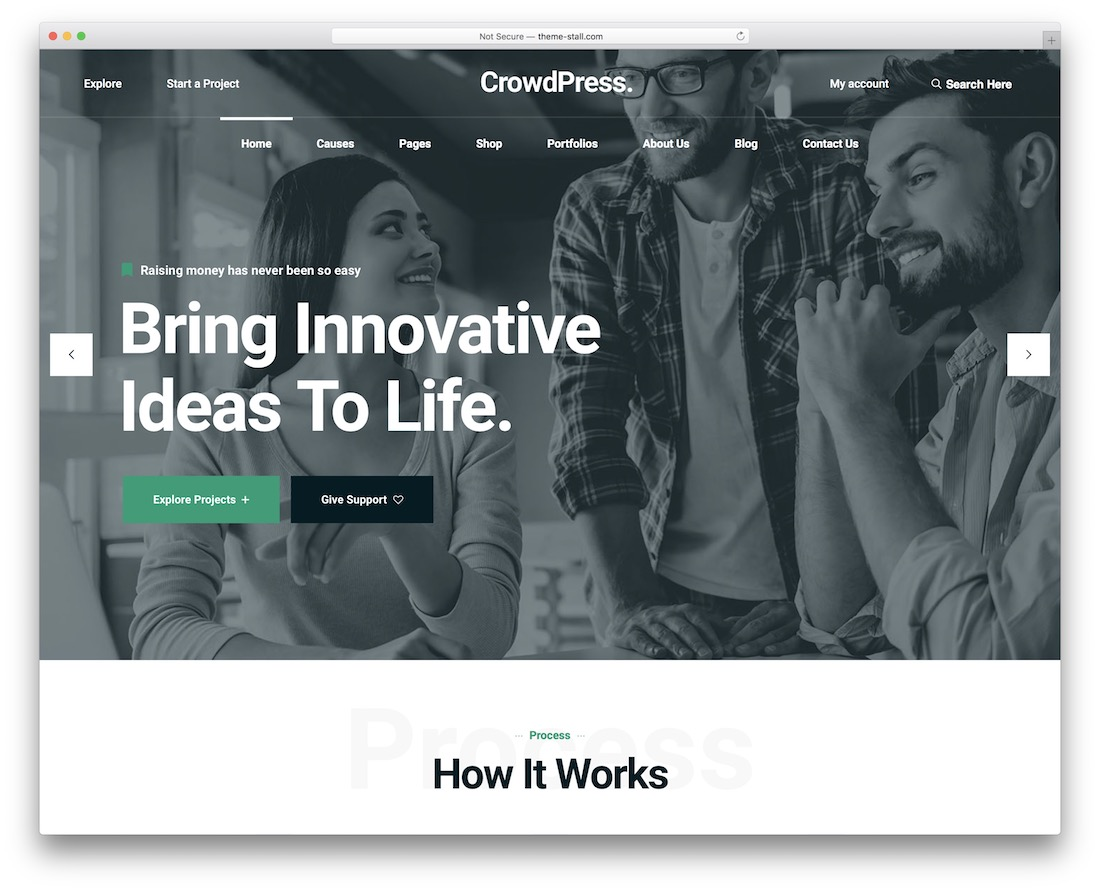 crowdpress crowdfunding wordpress theme