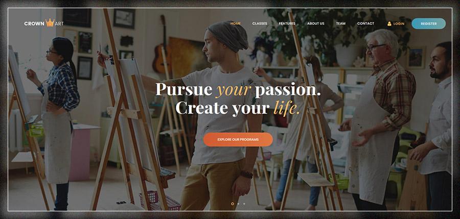 Crown Art | Arts School WordPress Theme