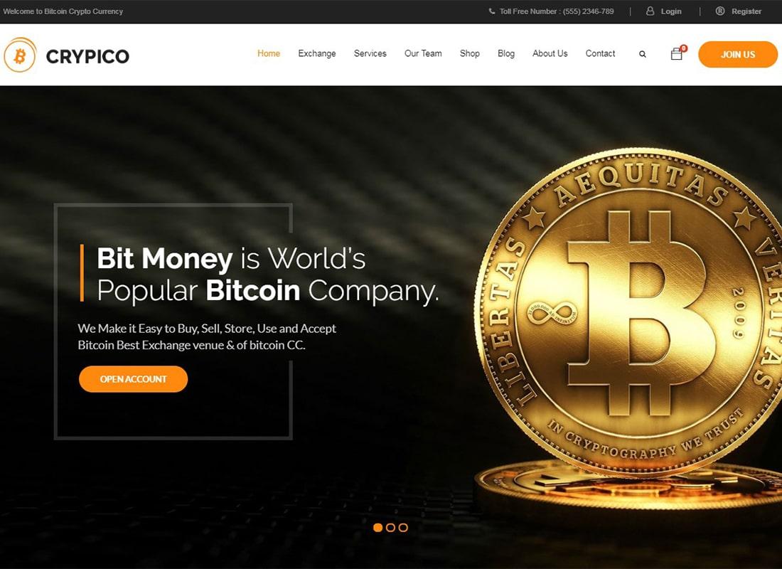 Crypico | Crypto Currency WordPress Theme