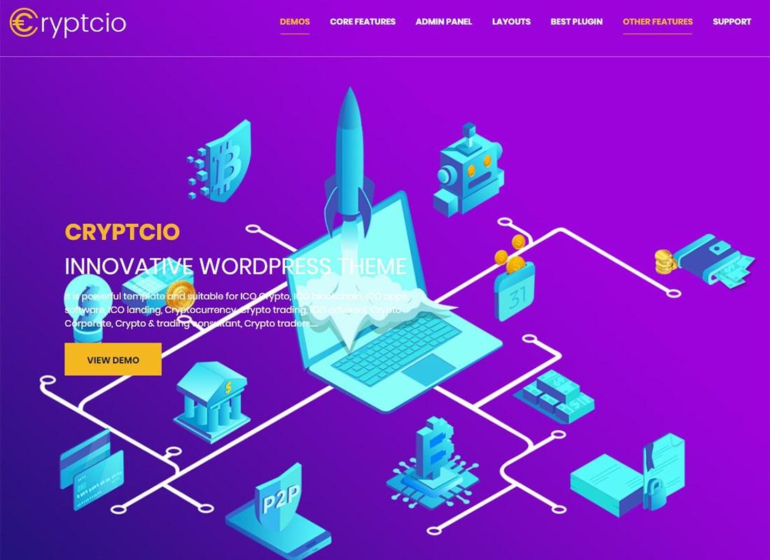 Cryptcio | Innovative WordPress Theme