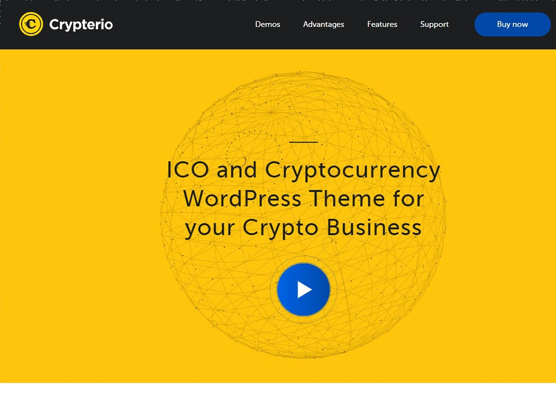 Crypterio | ICO and Cryptocurrency WordPress Theme